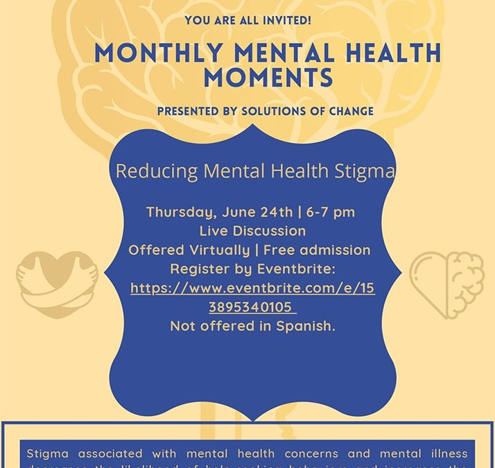 Monthly mental health moment