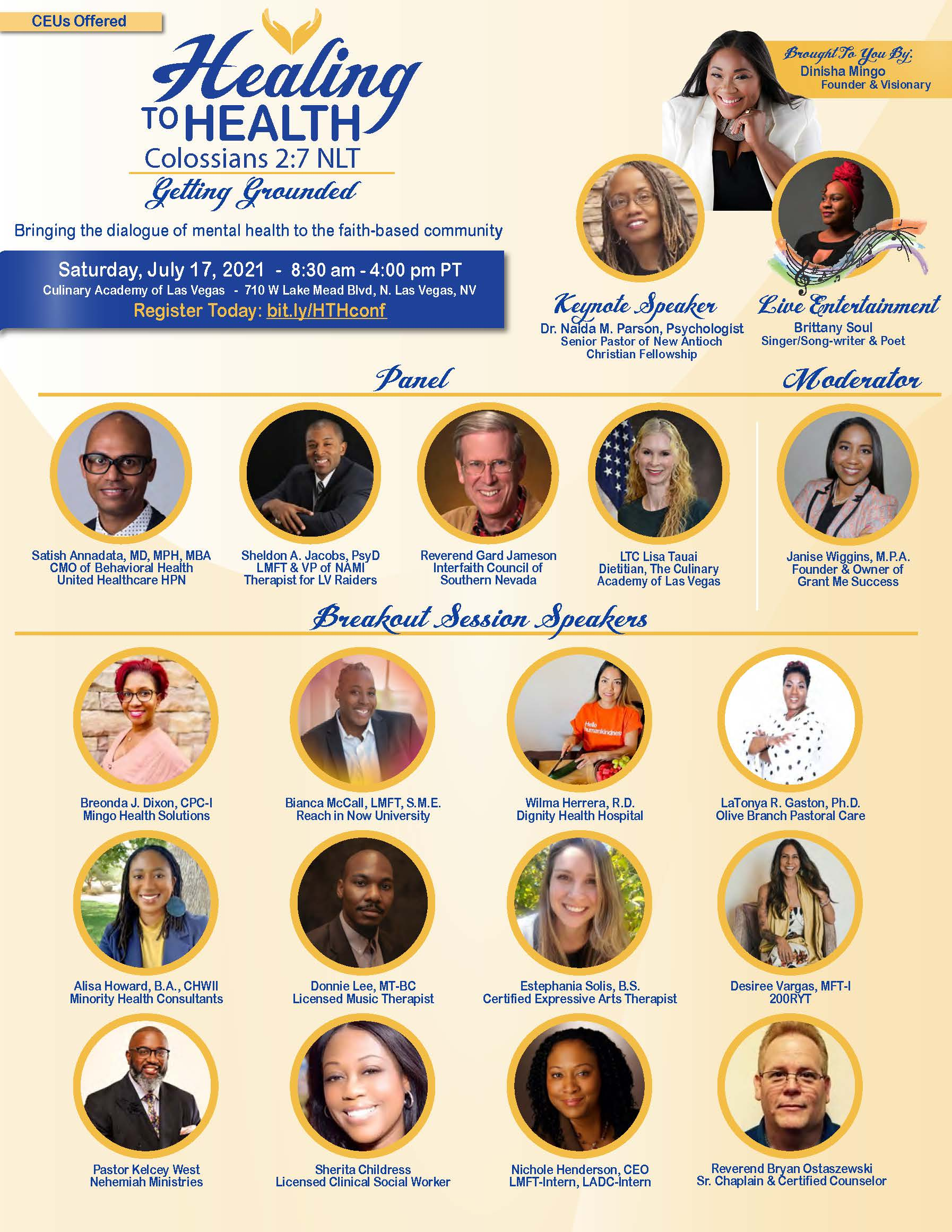 Healing Health Conference Speakers 2021